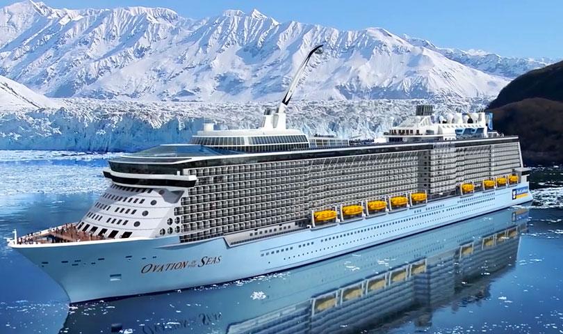 ล่องเรือสำราญ เส้นทางอลาสก้า Ovation of the Seas สหรัฐอเมริกา แคนาดา 11วัน8คืน บินอีวีเอแอร์(BR)